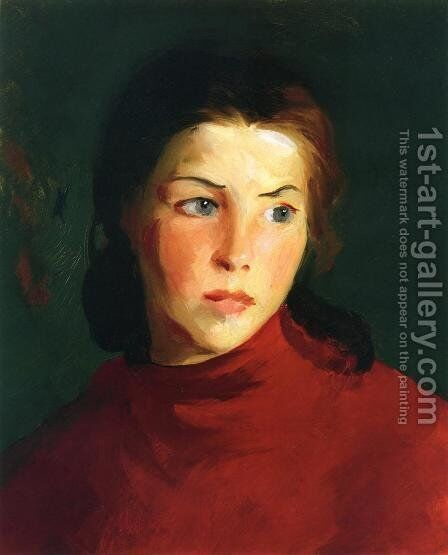 Irish Girl (Mary Lavelle) by Robert Henri - Reproduction Oil Painting