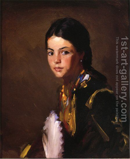 Segovian Girl by Robert Henri - Reproduction Oil Painting
