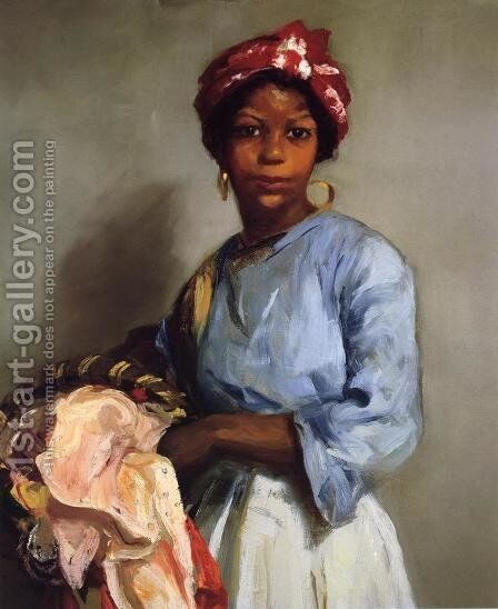 The Laundress by Robert Henri - Reproduction Oil Painting