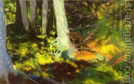 Under The Trees   Monhegan by Robert Henri - Reproduction Oil Painting