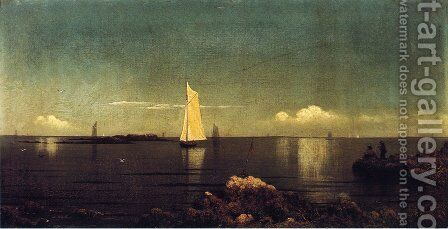 A Summer Afternoon Aka Boston Harbor by Martin Johnson Heade - Reproduction Oil Painting