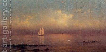 Becalmed  Long Island Sound by Martin Johnson Heade - Reproduction Oil Painting