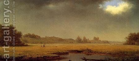 Cloudy Day  Rhode Island by Martin Johnson Heade - Reproduction Oil Painting