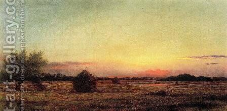 Jersey Meadows With Ruins Of A Haycart by Martin Johnson Heade - Reproduction Oil Painting