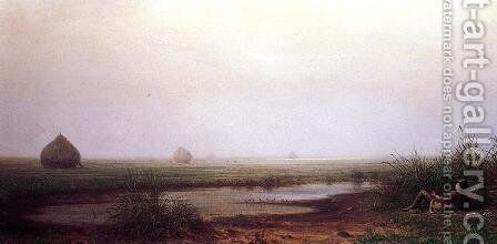 Marsh With A Hunter by Martin Johnson Heade - Reproduction Oil Painting