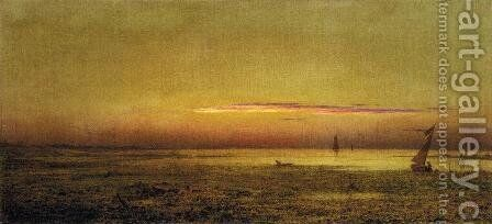 Marshes At Boston Harbor by Martin Johnson Heade - Reproduction Oil Painting