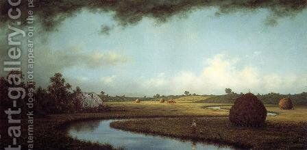 Newburyport Marches Approaching Storm by Martin Johnson Heade - Reproduction Oil Painting