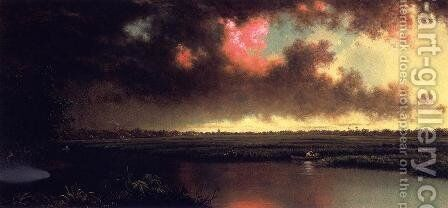 On The San Sebastian River  Florida by Martin Johnson Heade - Reproduction Oil Painting