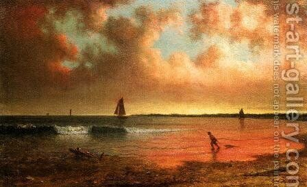 Point Judith by Martin Johnson Heade - Reproduction Oil Painting