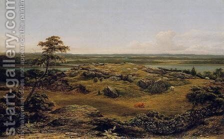Rocks In New England by Martin Johnson Heade - Reproduction Oil Painting