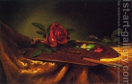 Roses On A Palette by Martin Johnson Heade - Reproduction Oil Painting
