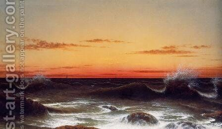 Seascape Sunset by Martin Johnson Heade - Reproduction Oil Painting