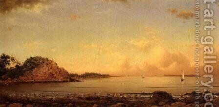 Spouting Rock  Newport by Martin Johnson Heade - Reproduction Oil Painting