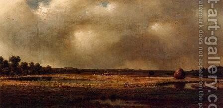 Storm Over The Marshes by Martin Johnson Heade - Reproduction Oil Painting