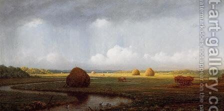 Sudden Shower  Newbury Marshes by Martin Johnson Heade - Reproduction Oil Painting