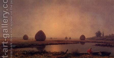 Sunrise On The Marshes by Martin Johnson Heade - Reproduction Oil Painting