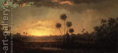 Sunrise  Florida by Martin Johnson Heade - Reproduction Oil Painting