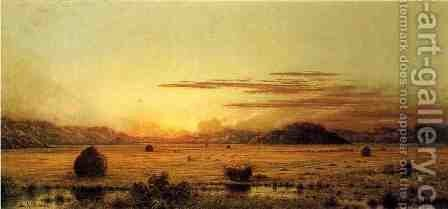Sunrise  Hoboken Meadows by Martin Johnson Heade - Reproduction Oil Painting