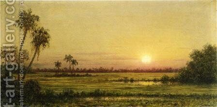Sunset In Florida by Martin Johnson Heade - Reproduction Oil Painting