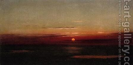 Sunset Of The Marshes by Martin Johnson Heade - Reproduction Oil Painting