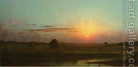 Sunset Over The Marsh by Martin Johnson Heade - Reproduction Oil Painting