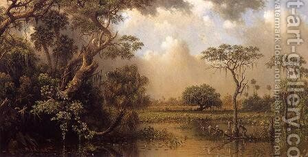 The Great Florida Marsh by Martin Johnson Heade - Reproduction Oil Painting