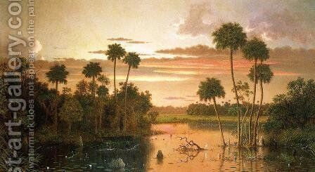 The Great Florida Sunset by Martin Johnson Heade - Reproduction Oil Painting