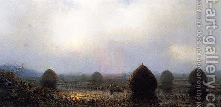 The Great Swamp by Martin Johnson Heade - Reproduction Oil Painting