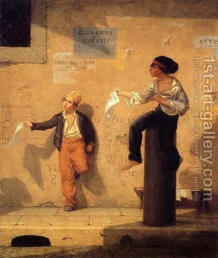 The Roman Newsboys by Martin Johnson Heade - Reproduction Oil Painting