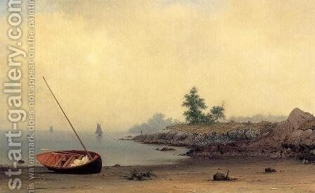 The Stranded Boat by Martin Johnson Heade - Reproduction Oil Painting