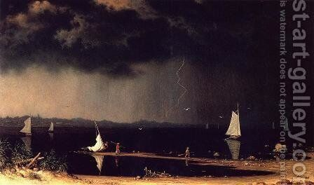 Thunder Storm On Narragansett Bay by Martin Johnson Heade - Reproduction Oil Painting