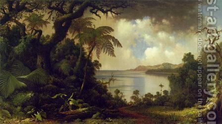 View From Fern Tree Walk  Jamaica by Martin Johnson Heade - Reproduction Oil Painting
