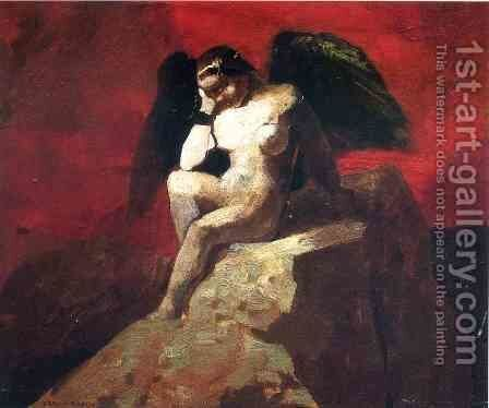 Angel In Chains by Odilon Redon - Reproduction Oil Painting