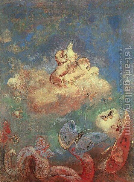 Apollos Chariot by Odilon Redon - Reproduction Oil Painting