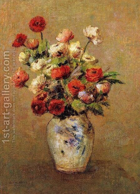 Bouquet Of Flowers4 by Odilon Redon - Reproduction Oil Painting