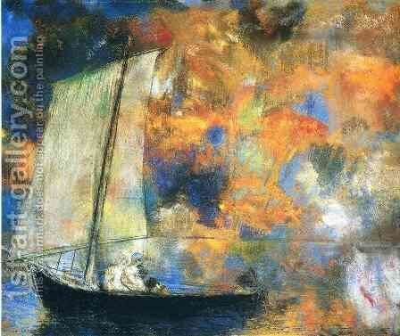 Flower Clouds by Odilon Redon - Reproduction Oil Painting