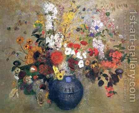 Flowers3 by Odilon Redon - Reproduction Oil Painting