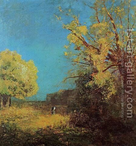 Peyrelebade Landscape by Odilon Redon - Reproduction Oil Painting