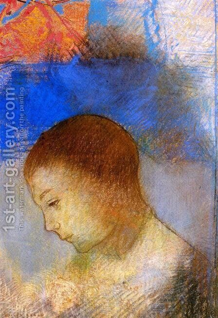 Portrait Of Ari Redon In Profile by Odilon Redon - Reproduction Oil Painting
