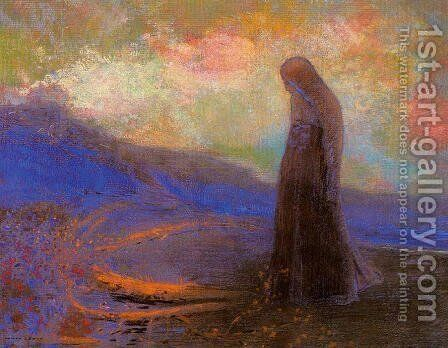 Reflection by Odilon Redon - Reproduction Oil Painting