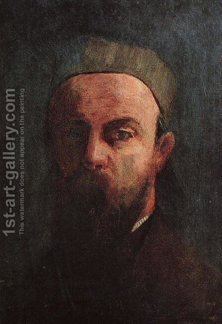 Self-Portrait 1880 by Odilon Redon - Reproduction Oil Painting