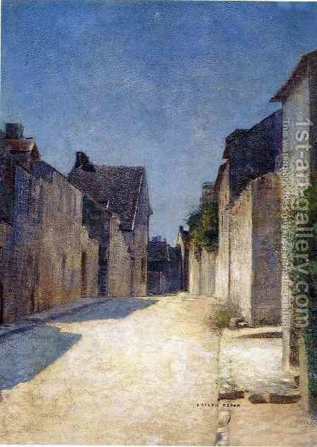 Street In Samois by Odilon Redon - Reproduction Oil Painting