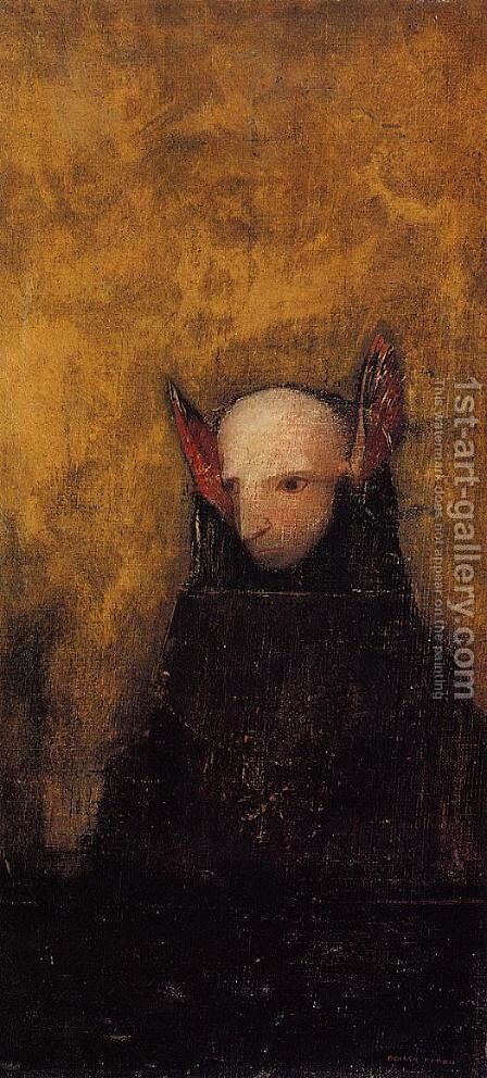 The Monster by Odilon Redon - Reproduction Oil Painting