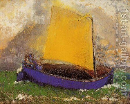 The Mysterious Boat by Odilon Redon - Reproduction Oil Painting