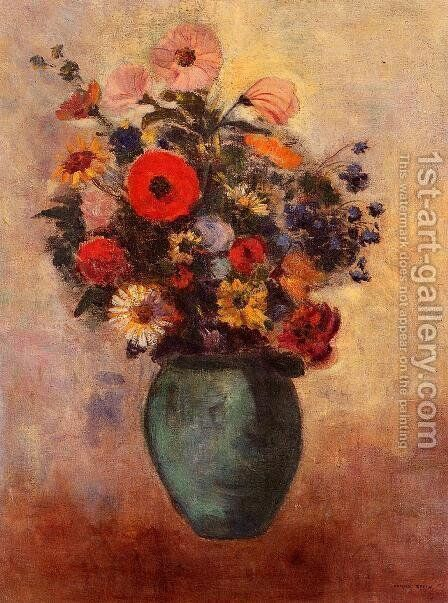 Vase Of Flowers9 by Odilon Redon - Reproduction Oil Painting