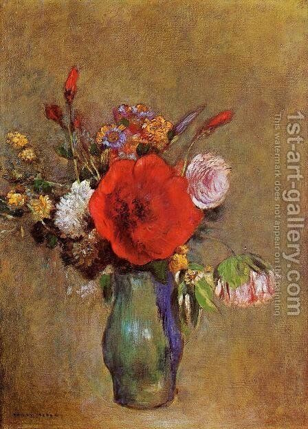 Vase Of Flowers12 by Odilon Redon - Reproduction Oil Painting