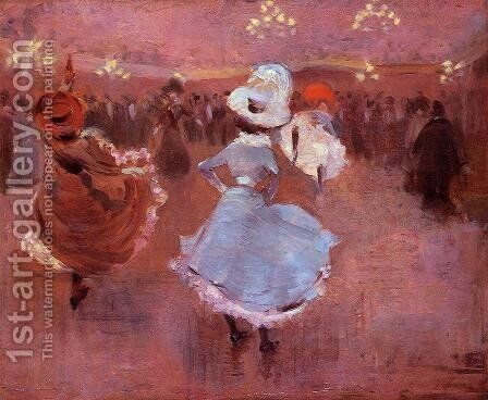 Can Can Dancers by Jean-Louis Forain - Reproduction Oil Painting