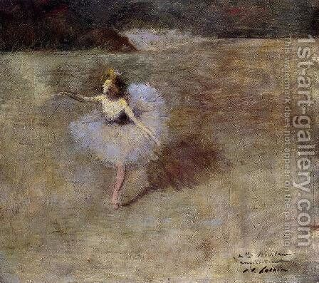 Dancer In Pink Tights by Jean-Louis Forain - Reproduction Oil Painting