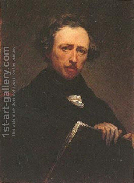 Self Portrait by Ary Scheffer - Reproduction Oil Painting