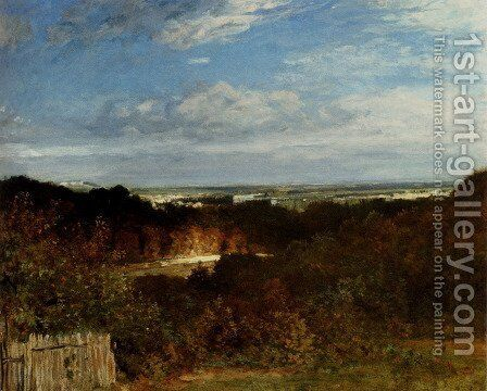 A View Towards The Seine From Suresnes by Constant Troyon - Reproduction Oil Painting